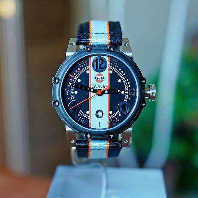 FS BRM BT6 CARBURATOR STYLE TITANIUM PVD LIMITED EDITION GULF WATCH 44MM