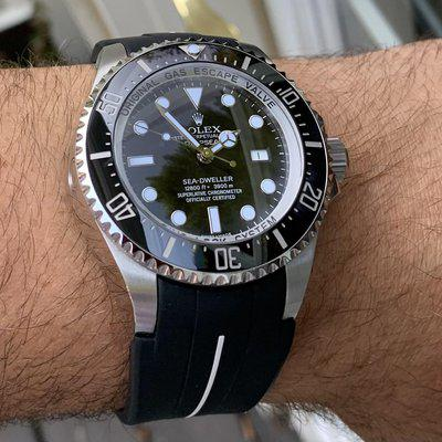 FS: Fully Serviced Rolex Deep Sea Complete full links Box&Papers Rubber B strap 11666