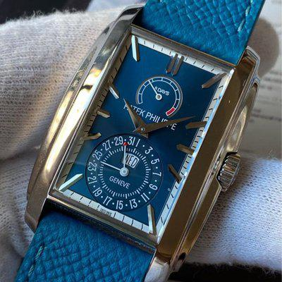 FS:Patek Philippe Gondolo 8 Days Power Reserve Blue White Dial 5200G-001