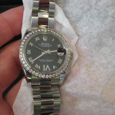 FS: ROLEX 178384 BLUE Pav'E DIAMOND 6 MIDSIZE LADIES DATEJUST