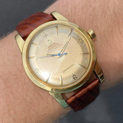[WTS]/[WTT] Omega Seamaster SOLID 18k Gold ref 2577/2520 + ORIG buckle and NOS strap