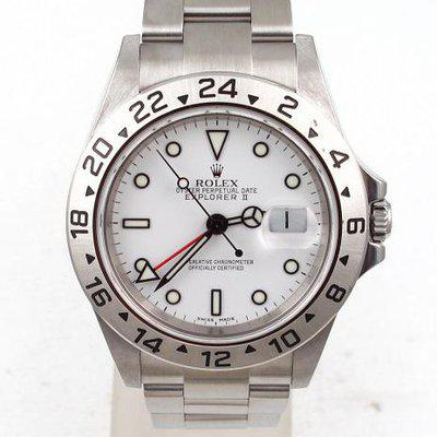 FS:Rolex Stainless Steel Explorer II With Polar White Dial Oyster Band Model#16570