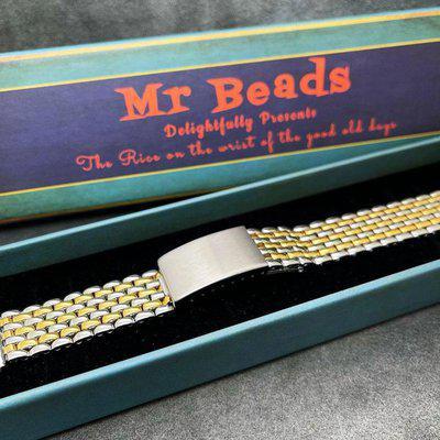 2 Tone Beads of Rice Bracelet Gay Freres Style BOR