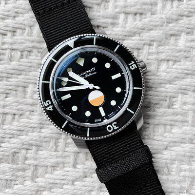 FOR SALE: BLANCPAIN - Fifty Fathoms - 40.3 mm - Hodinkee - MIL-SPEC - Limited Edition