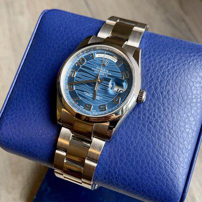 """[WTS/WTT] Rolex Day-Date ref. 118209 with concentric """"blue wave"""" dial."""