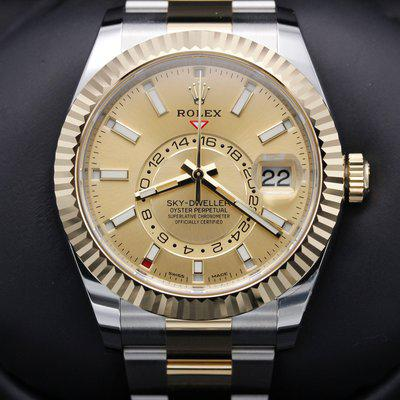 FSOT: Rolex Sky-Dweller - 326933 - Two Tone - Champagne Dial - Oyster - New 2021