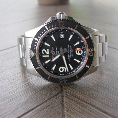 FS: 2020 Breitling Superocean 42 Black Dial Stainless Steel A17366021B1A1