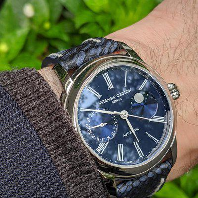 """[WTS] Frederique Constant In-House Moonphase - FC-712MN4H6 - Blue Dial - 42mm - Full Kit - The More """"Sporty"""" Moonphase"""