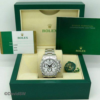 FS: Rolex 116520 COSMOGRAPH DAYTONA STAINLESS STEEL-WHITE DIAL