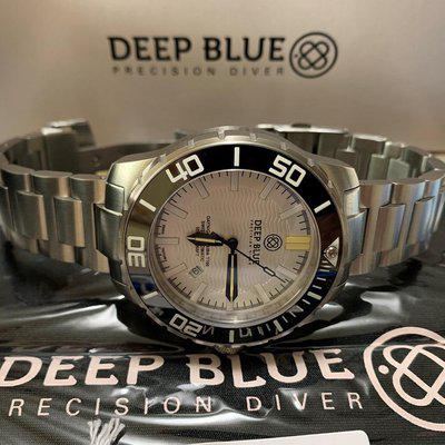Sold————DEEP BLUE DAYNIGHT SCUBA TRITIUM T-100 SWISS AUTOMATIC WHITE DIAL Sold out MODEL