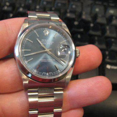 FS: ROLEX 16200 Stainless Steel Datejust Blue Dial