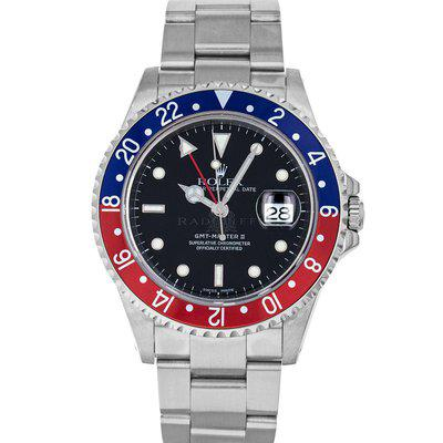 FS- Rolex 16710 GMT Master II Y Black Dial Pepsi Box RSC Papers