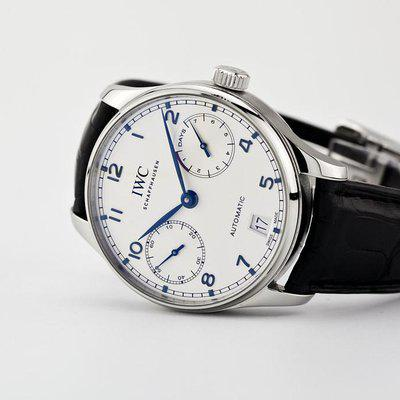 fsot - IWC Portuguese Automatic - 7 Day - Blue Numbers - IW500705 ( excellent )
