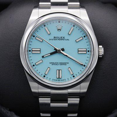 FSOT: Rolex Oyster Perpetual 41 - 124300 - Tiffany Blue - Stainless - New 2021