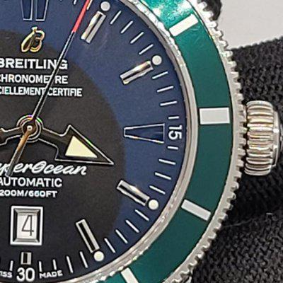 FS: Limited Edition Breitling Superocean Heritage 46 Green Bezel A17320Q5 / A17320