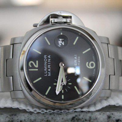 FS: Panerai Luminor Marina PAM 298 40mm Watch with Boxes + Papers STAINLESS BRACELET!