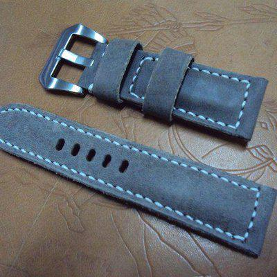 FS:A2224~ 2236 Panerai custom straps include padded grayish brown crazy horse strap.Cheergiant straps