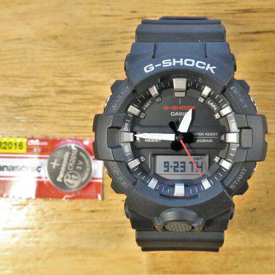 FS Casio G-Shock GA800-1A like new with new battery installed plus extra Panasonic battery.