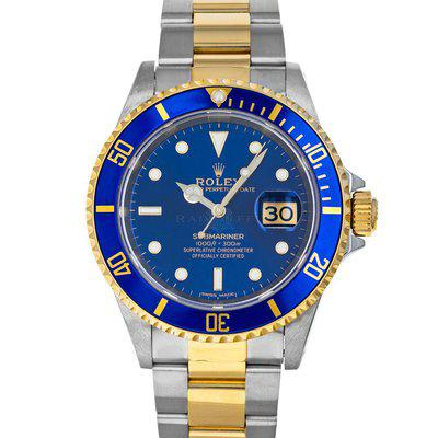 Rolex 16613 Submariner W Blusey Sub Box RSC Service Papers