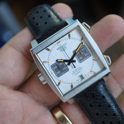 FS: TAG Heuer Monaco Silver brushed dial CAW211C.FC6241