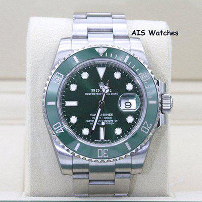 FSOT: Rolex Submariner 116610LV HULK Green Dial and Ceramic Bezel Box & Papers