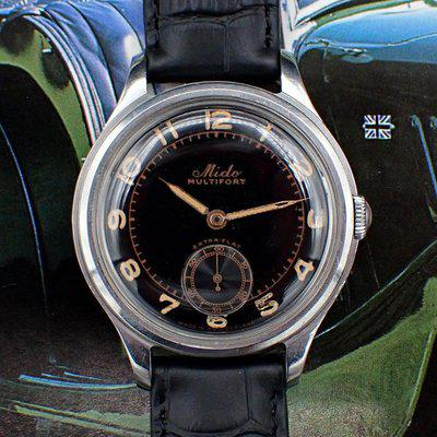 """[WTS][PRICE CHOP] Vintage Mido Multifort """"Extra-Flat"""" w/Gloss BLACK Dial [REPOST]"""