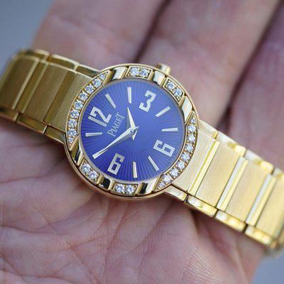 FS:  Piaget Polo 28mm P10141 18k Yellow gold Diamond bezel
