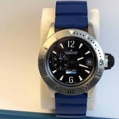 FS: Jaeger LeCoultre Master Compressor Diver GMT Q187T770 L.E. Full Set Boxes & Papers. Serviced by JLC.