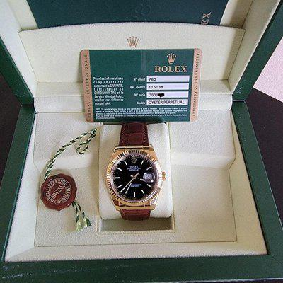 FS: Rolex Datejust 116138 18K YG Black Dial with Box and Warranty Card
