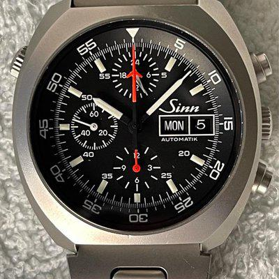 SOLD: Sinn 142 Space Chronograph Lemania 5100 Box/Papers