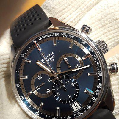 ZENITH SPORT CHRONO EL PRIM COMPLETE SET BOX AND PAPERS STUNNING WATCH 4600.00.
