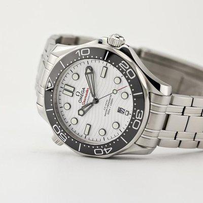FSOT - Omega Seamaster 300 - White Wave Dial - 42mm Master 8800 ( excellent / 2021 )