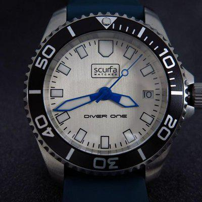 TRADED - Sold Out Scurfa D1 500m with Silver Dial Blue hands