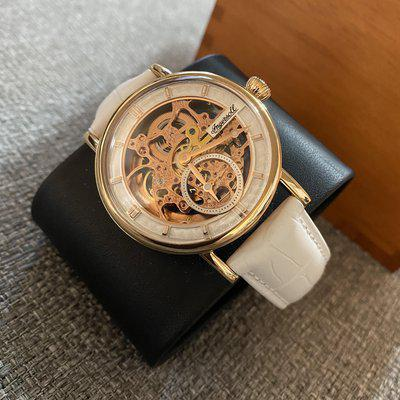 [WTS] Ingersoll - Herald Skeleton Automatic Watch, Rose Gold, White Leather, I00404 (PRICE IN AUD)