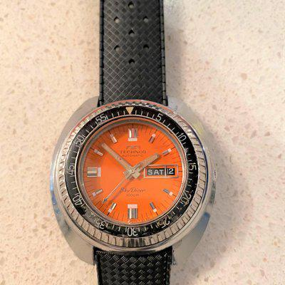 Vintage TECHNOS Automatic Skydiver 1000M Stainless Steel Diver's Watch (Certina DS3)