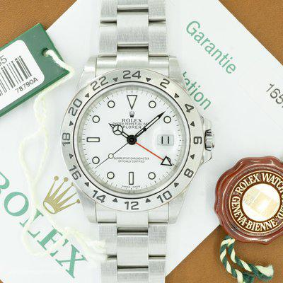 [WTS] Rolex Explorer II 'Polar' Ref. 16570 with Papers & Hangtags | SEL & No Holes