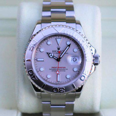 FS: Rolex 16622 Yachtmaster Watch 40MM Platinum Dial and Bezel Box and Paper