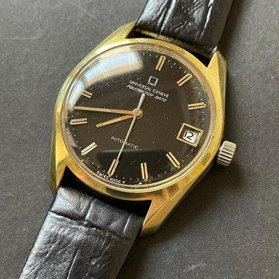 Universal Geneve Polerouter Date Gold
