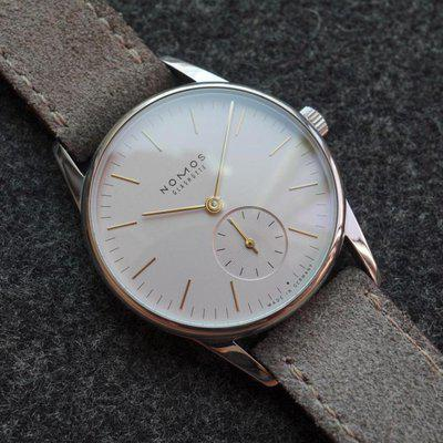 FS: Nomos Orion Rose 33 - Ladies 33mm, pale pink + gold, ref. 325, box & papers - $1600