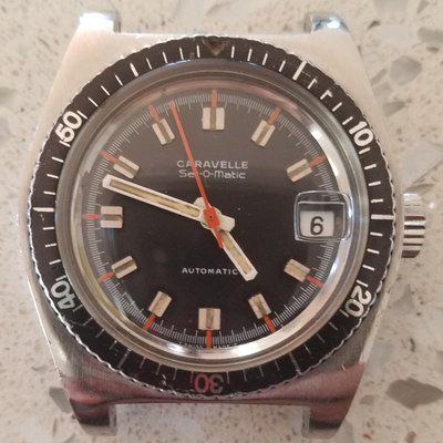 FS: Very Rare Vintage (early 70s) Skin Diver, Swiss Made Automatic Caravelle Set-o-Matic >> $450