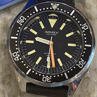 Fs: Nib squale militaire 50 atmos dive watch polished or blasted