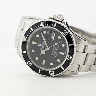fsot - Rolex Submariner - Date - 16610 - E Serial 1990 - Holes Case & Solid End Links