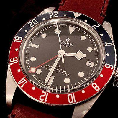 FS: Tudor Black Bay GMT on Leather (box/papers/extras) - $3,350