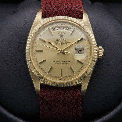 FSOT: Rolex Day-Date - 1803 - Yellow Gold - Champagne Pie Pan Dial - 1969 - EXC Cond