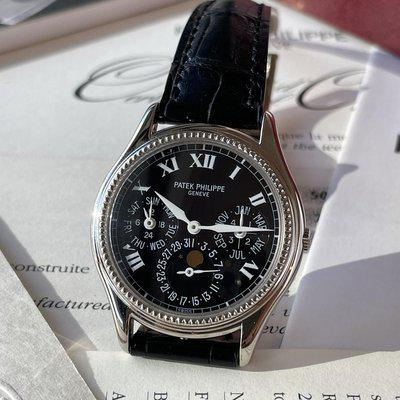 Fs: PATEK PHILIPPE 36mm WHITE GOLD PERPETUAL CALENDAR LIMITED EDITION BOX & PAPERS