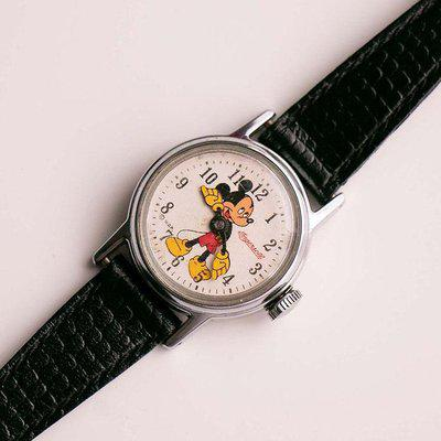 60s Rare Ingersoll Mickey Mouse Mechanical Watch for Adults