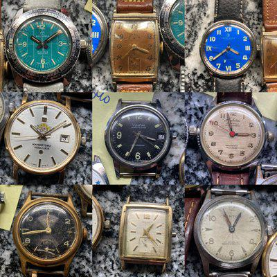 [WTS] Vintage Watch Lot For Repair- Tissot, Rodania Worldtime Diver, Lord Elgin, Wyler, Caravelle & more