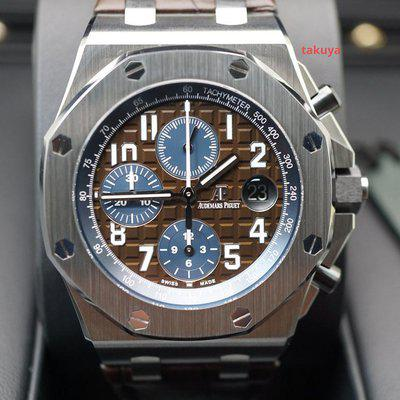 FSOT:BNIB Audemars PIGUET ROYAL OAK OFFSHORE CIGAR BROWN DIAL 42MM 26470ST FULL SET