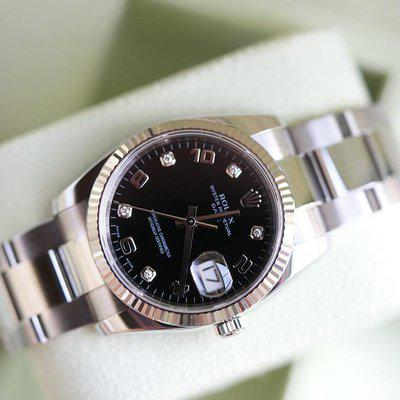 FS: Rolex Date 34mm 115234 with Diamond dial.
