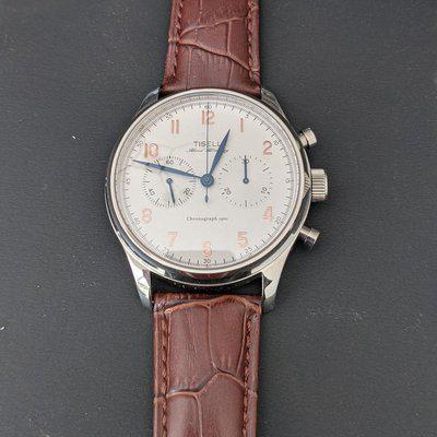 [WTS] Tisell ST19 Mechanical Chronograph, White Dial, 43 mm